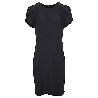 Frank Lyman Navy Blue Capped Sleeve Fitted Dress
