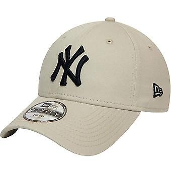 New Era Youths New York Yankees League Essential 9Forty Cap - Stone - 6-12 ans
