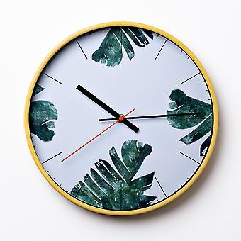 """דף טרופי שעון קיר עגול בזמן הבית 30 ס""""מ"""