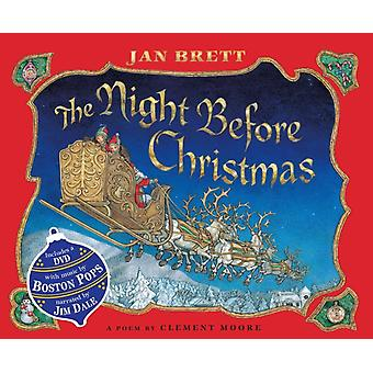 The Night Before Christmas  Book amp DVD by Jan Brett & Clement Clarke Moore & Read by Jim Dale