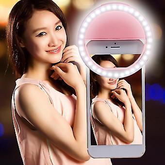 Sg-11 Mini újratölthető telefon LED Szelfi Lámpa Gyűrű Light Night Light