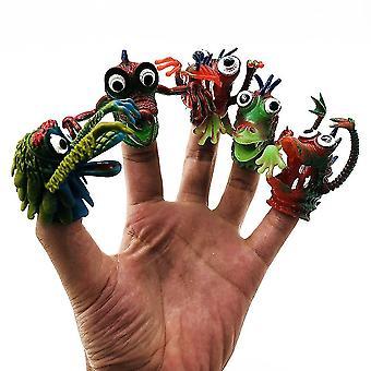 5 stuks Monster Pvc vinger cot angst relief speelgoed grappig fidget speelgoed
