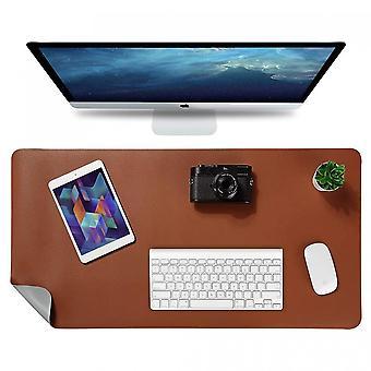 Alfombrilla de ratón de doble cara, almohadilla de escritorio multifuncional para teclado y ratón de 90 x 43 cm, alfombra de mesa de cuero Pu impermeable para la oficina y el hogar