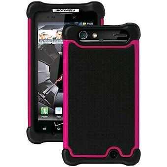 Ballistic Soft Shell Gel Case for Motorola Droid Razr XT912 (Black/Pink)