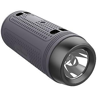 Alto-falante bluetooth multifuncional com rádio lanterna fonte de alimentação bluetooth bluetooth bluetooth 5.4 portátil suporta placa USB TF AUX FM adequada para camping de bicicleta ao ar livre (Cinza)