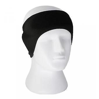 צמר הגנה על אוזן סרט ראש ספורט, ריצה, רכיבה על אופניים, סרט ראש כדורסל חם וקר(שחור)