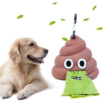 Porte-distributeur de sacs à déchets portatifs extérieurs - Boîte de rangement de porte-sac de poop de chien