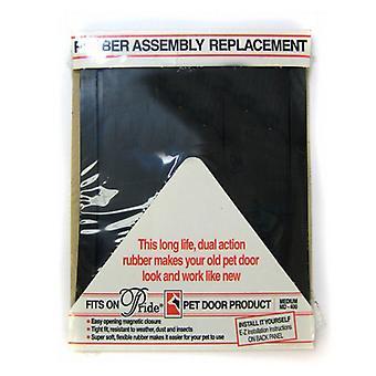 """Pride Pet Doors Rubber Assembly Replacement Pet Door Flap - Medium (14.5"""" Long x 10.5"""" Wide)"""