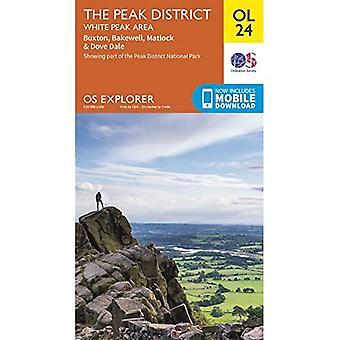 The Peak District: White Peak Area (OS Explorer-kaart)