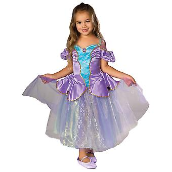 Viktorianische Ballerina lila Prinzessin Mädchen Kinderkostüm S