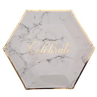 Käsikirjoitettu marmorilevy - suuri