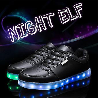 Led Enfants Chaussures Usb Charge avec Lumière Enfants Décontracté Belles Chaussures Glowing