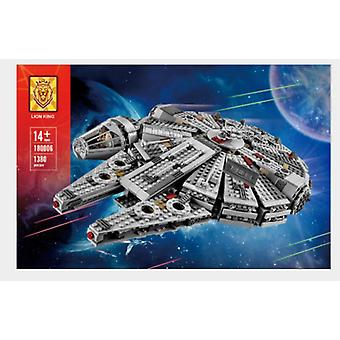 Yhteensopiva Star Wars 180006 Uuden Pienen Vuosituhannen Falcon-avaruusaluksen kanssa Koottu rakennuspalikat Koulutus lelu 05007