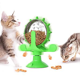 Windmill Cat Toy, Nteractive Toy Slow Feeder