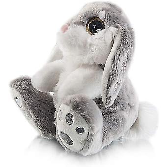 Bunny plysj kanin floppy øre sittende kanin fylt dyr grå påske gaver til babyer barn gutter jenter