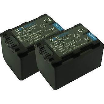 2 x Dot.Foto Sony NP-FV60, NP-FV70 batería de repuesto - 7.4v / 1800mAh