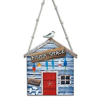Fishing Shack Worms and Crawlers Christmas Holiday Ornament