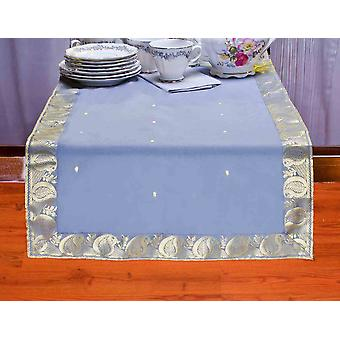 Gray - Hand Crafted Table Runner (Inde)