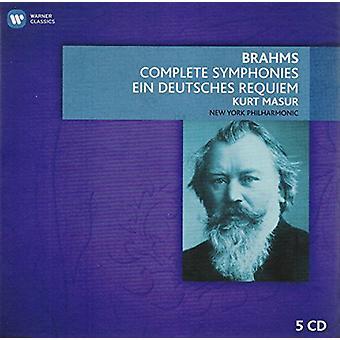 Brahms/Kurt Masur / New York Phil Orch - Comp Syms & Ein Deutsches Requiem [CD] USA import