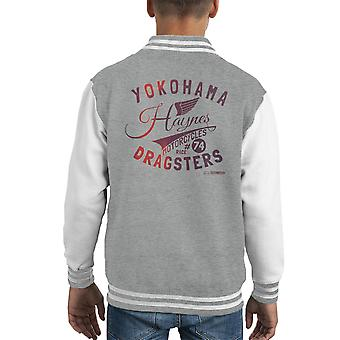 Haynes Brand Yokohama Dragsters Motorcycles Kid's Varsity Jacket