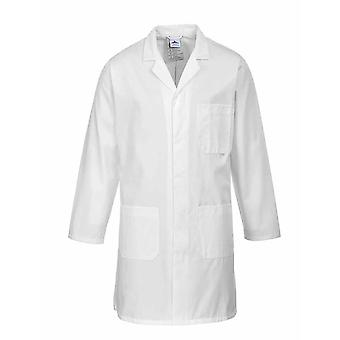 Portwest - Standard Lab Medical Coverall Coat White 4XL