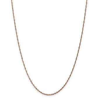 14k Rose Gold Singapore Chain Necklace Jewelry Gifts for Women - Length: 16 to 24