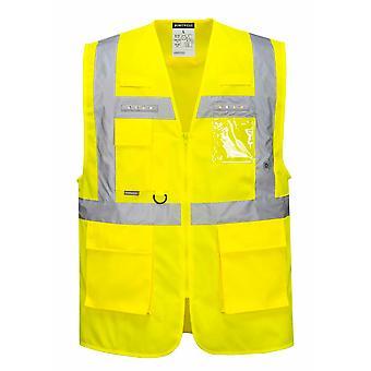 بورتويست مينس أوريون LED مرحبا فيس السلامة ملابس العمل سترة التنفيذية