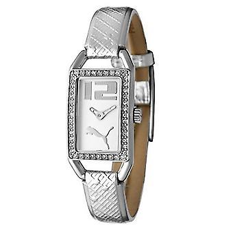 PUMA montre bracelet dames blanches cristal brillant argent PU101662001