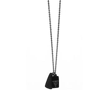 Guess men's chain necklace stainless steel black UMN21507