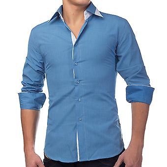 Camisa manga longa polo camisa de Slim Fit negócios estilo Casual