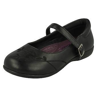 Girls Cool For School Flower Pattern School Shoes