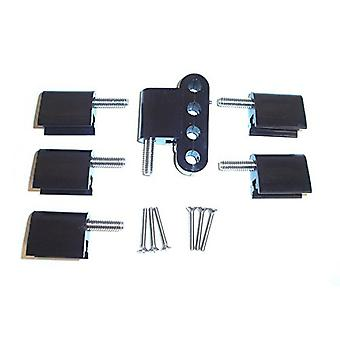 Taylor Cable 42706 Black Vertical Mounting Brackets for Clamp Style Wire Separators - Pack of 6