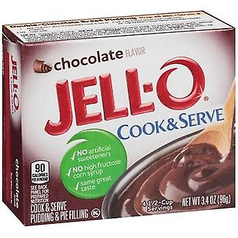 Jell-O chocolade Cook & Serve Pudding en Pie vulling