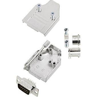 encitech MHDM35-09-HDP15-K 6355-0060-01 D-SUB PIN strip set 45 ° aantal pinnen: 15 soldeer emmer 1 set