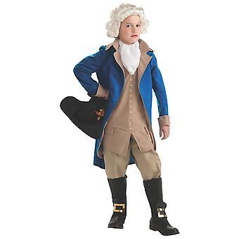 George Washington Founding Father U.S. Voorzitter koloniale Franse jongens kostuum