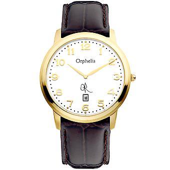 ORPHELIA Mens Analogue Watch La Ballade Brown Leather 132-6700-13
