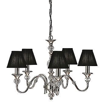 Interiors 1900 Polina Polished Nickel & Cut Crystal Chandelier, 5 Light