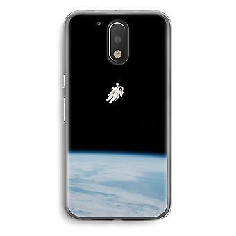 Motorola Moto G4/G4 Plus Transparent fodral (Soft) - ensam i rymden