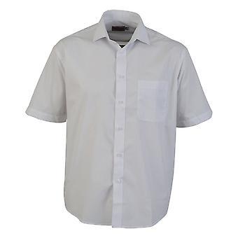 Vestuário absoluto Mens curto manga camisa popeline clássico