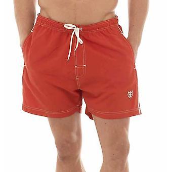 Tom Franks Plain Summer Beach Swim Pool Shorts With Logo & Mesh Liner
