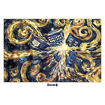 Dokter die poster XXL exploderende TARDIS reus poster