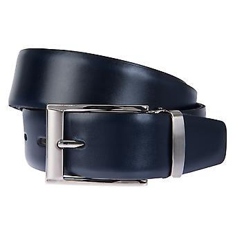 BERND GÖTZ belts men's belts leather belt leather Navy/Blue 2341