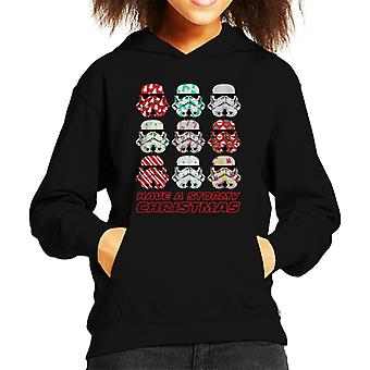 Original Stormtrooper Have A Stormy Christmas Kid's Hooded Sweatshirt