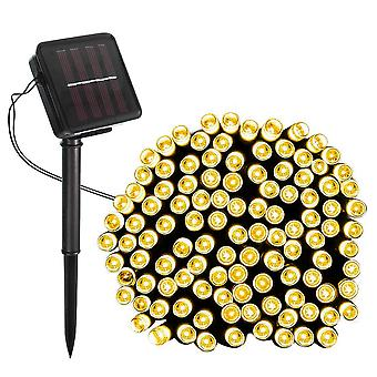 Modern Home Solar LED String Lights - 100ct Warm White