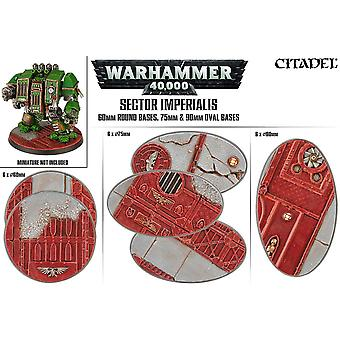 Games Workshop Warhammer 40.000 Sector Imperialis Oval Bases 60/75/90 mm
