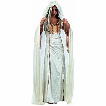 Cape kappa dam kostym dam Cape kvinna Cape kostym damer vit