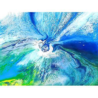 اللوحة الزيتية التجريدية، 90x120 سم اليد رسمت 003318080875655