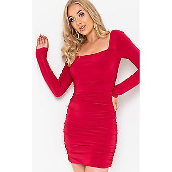 IKRUSH Womens Avril Ruched Bodycon Dress
