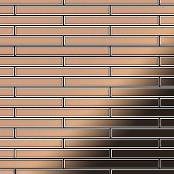 Metal mosaic Copper ALLOY Avenue-CM