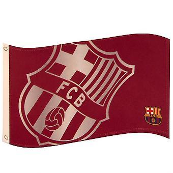 ФК Барселона большой герб флаг